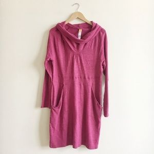 Lucy Maroon Cowl Neck Dress